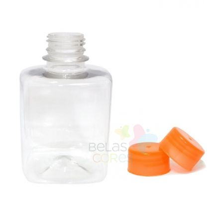 frasco-quadrado-250ml-tampa-laranja-10-unidades