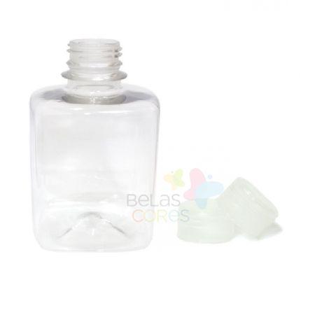 frasco-quadrado-250ml-tampa-transparente-10-unidades