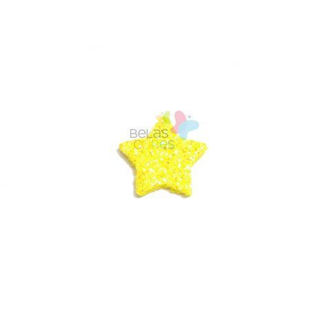 aplique-eva-estrela-amarelo-glitter-pp-50-uni