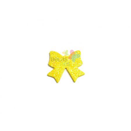 aplique-eva-laco-amarelo-glitter-m-50-uni