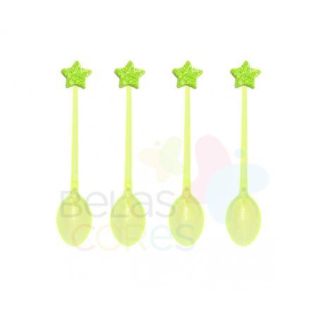colherzinha-acrilica-amarela-aplique-estrela-verde-claro-tamanho-pp-50-unidades