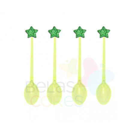 colherzinha-acrilica-amarela-aplique-estrela-verde-escuro-tamanho-pp-50-unidades