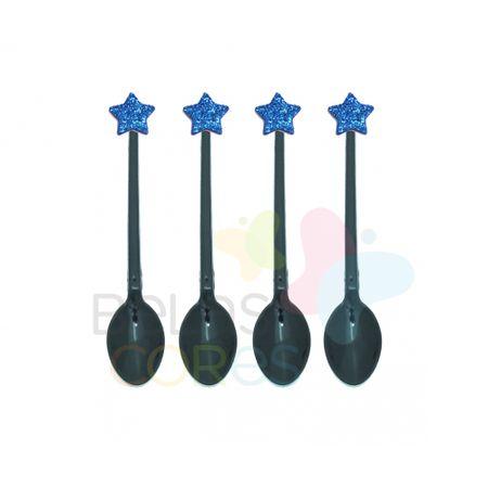 colherzinha-acrilica-preta-aplique-estrela-azul-escuro-tamanho-pp-50-unidades