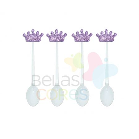 colherzinha-acrilica-branca-aplique-coroa-lilas-tamanho-p-50-unidades