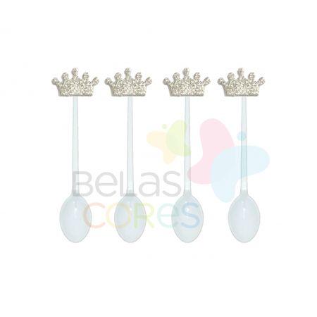 colherzinha-acrilica-branca-aplique-coroa-prata-tamanho-p-50-unidades