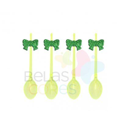 colherzinha-acrilica-amarela-aplique-laco-verde-escuro-tamanho-p-50-unidades