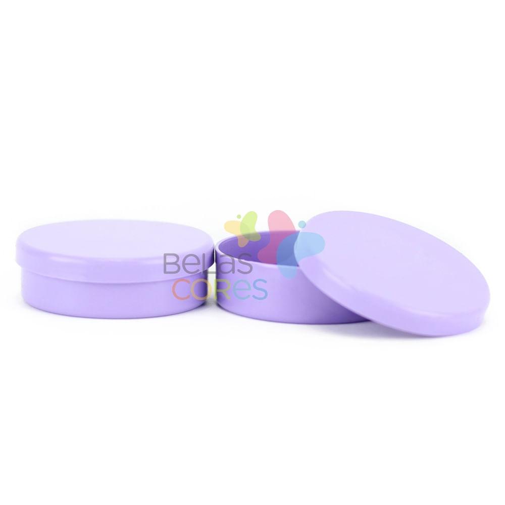 Latinhas de Plástico Mint to Be 5,5x1,5 cm Lilás - Kit com 50 unidades -  belascores 38078d9adf