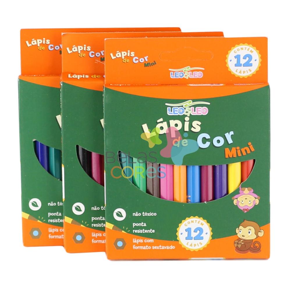 57f1e9f9e Mini Lápis de Cor Estojo com 12 cores - 1 unidade - belascores