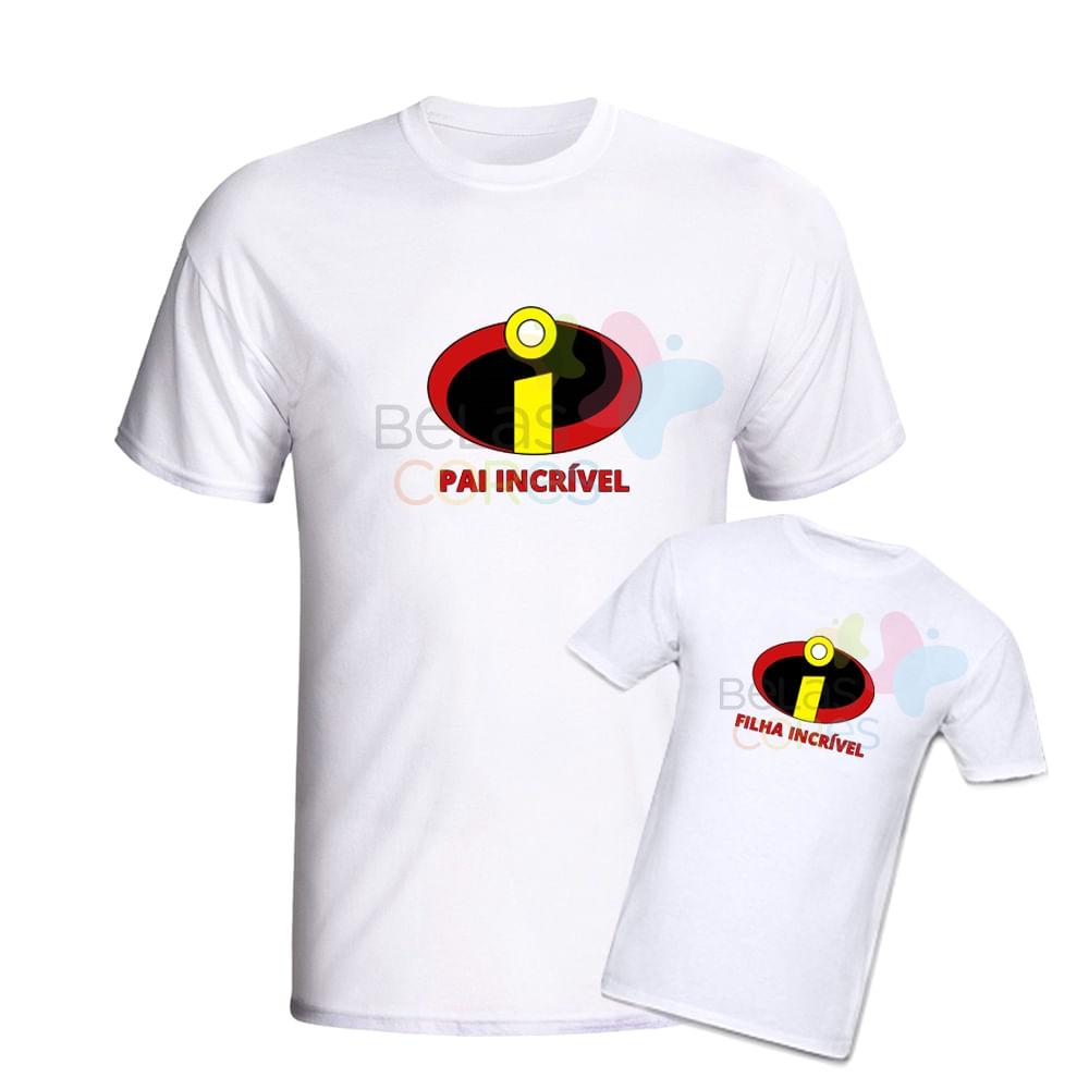 Kit Camisetas 100% Algodão Branca Dia dos Pais - Pai Incrível e ... 81406f39c64