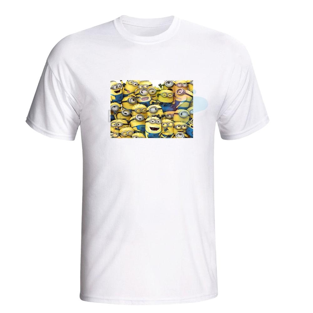 Camiseta 100% Algodão Branca Estampa Minions - 1 unidade - belascores 5a4ddf615855a
