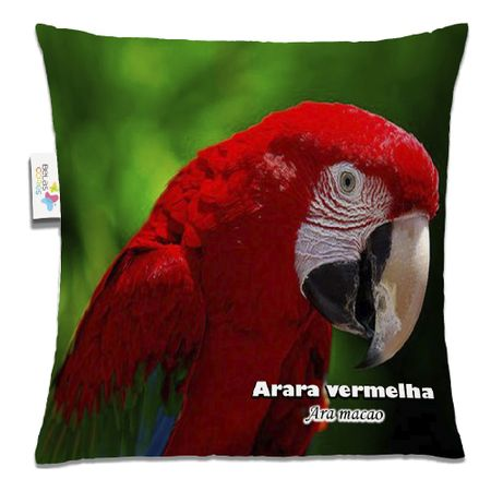 Almofada-Animal-30x30-Arara-Vermelha