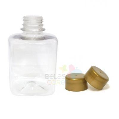 frasco-quadrado-250ml-tampa-dourada-10-unidades