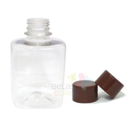 frasco-quadrado-250ml-tampa-marrom-10-unidades