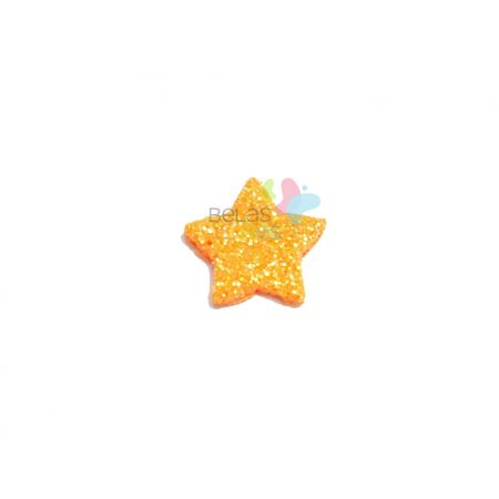 aplique-eva-estrela-laranja-glitter-m-50-uni