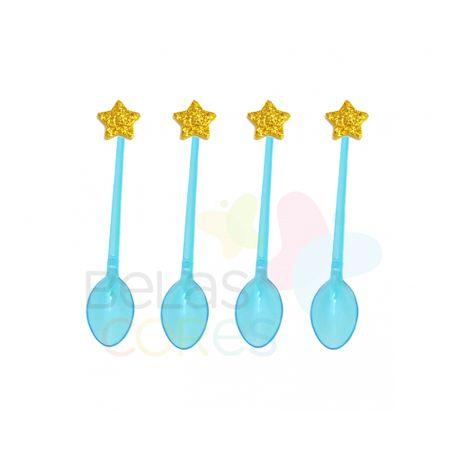 colherzinha-acrilica-azul-aplique-estrela-ouro-tamanho-pp-50-unidades