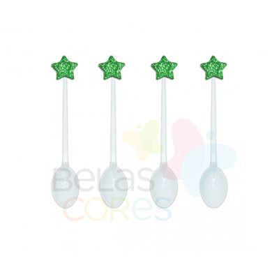 colherzinha-acrilica-branca-aplique-estrela-verde-escuro-tamanho-pp-50-unidades