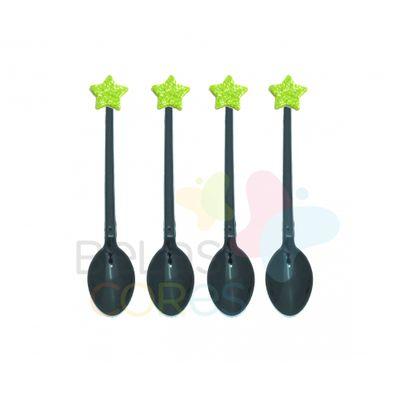 colherzinha-acrilica-preta-aplique-estrela-verde-claro-tamanho-pp-50-unidades