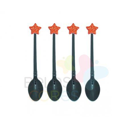colherzinha-acrilica-preta-aplique-estrela-vermelho-tamanho-pp-50-unidades