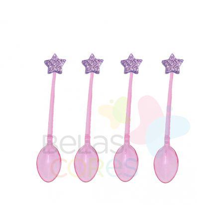 colherzinha-acrilica-rosa-aplique-estrela-lilas-tamanho-pp-50-unidades
