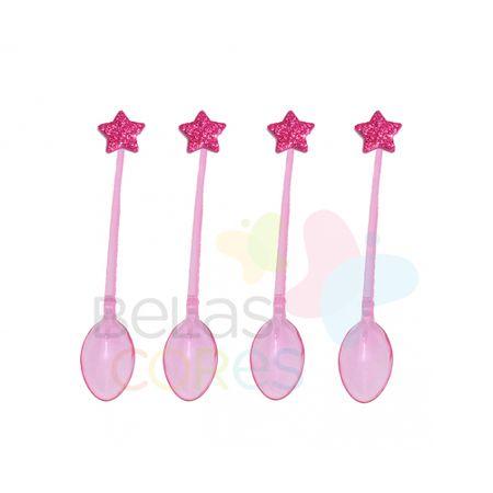 colherzinha-acrilica-rosa-aplique-estrela-pink-tamanho-pp-50-unidades
