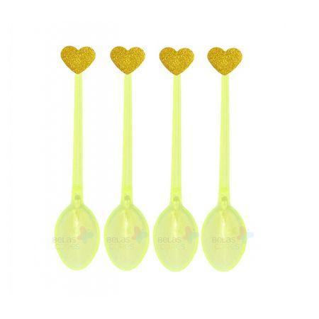 colherzinha-acrilica-amarela-aplique-coracao-ouro-tamanho-pp-50-unidades