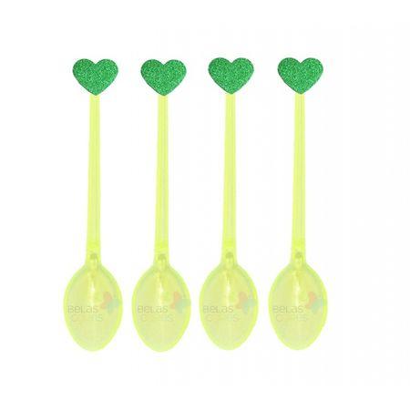 colherzinha-acrilica-amarela-aplique-coracao-verde-escuro-tamanho-pp-50-unidades