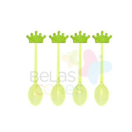 colherzinha-acrilica-amarela-aplique-coroa-verde-claro-tamanho-p-50-unidades