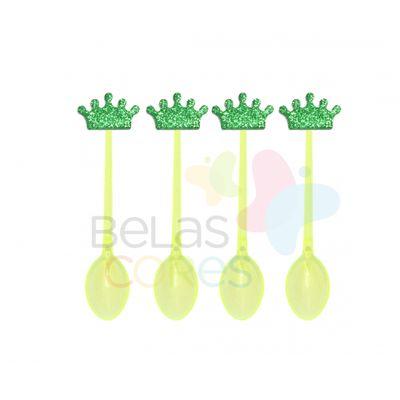 colherzinha-acrilica-amarela-aplique-coroa-verde-escuro-tamanho-p-50-unidades
