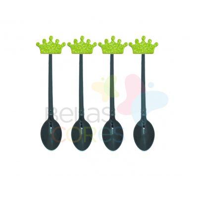colherzinha-acrilica-preta-aplique-coroa-verde-claro-tamanho-p-50-unidades